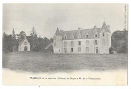 Cpa: 56 MAURON (ar. Vannes) Château Du Boyer à M. De La Villeaucomte. Ed. Mignot - Autres Communes