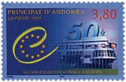 Ref. 49844 * NEW *  - ANDORRA. French Adm. . 1999. 50th ANNIVERSARY OF THE EUROPEAN COUNCIL. 50 ANIVERSARIO DEL CONSEJO - Neufs