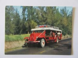 CPM Réunion - Le Car Courant D'Air (Bus Citroën) - Carte Animée, Non-cirulée - Réunion