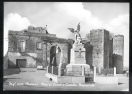 MIGLIONICO - MATERA - ANNI 50 - MONUMENTO AI CADUTI E CASTELLO MEDIOEVALE - Matera