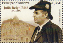 Ref. 572149 * NEW *  - ANDORRA. Spanish Adm. . 2017. PERSONATGES. JULI� REIG I RIB� - Andorre Espagnol