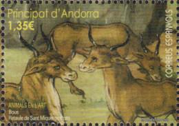 Ref. 578269 * NEW *  - ANDORRA. Spanish Adm. . 2017. ANIMALS EN L ART. BOUS. RETAULE DE SANT MIQUEL DE PRATS - Andorre Espagnol