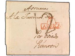 SPAIN: PREPHILATELIC MARKS  DP27 AFRICA - ...-1850 Prefilatelia