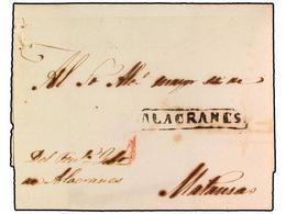 SPAIN: PREPHILATELIC MARKS  DP30 ISLAS DE CUBA Y PUERTO RICO - ...-1850 Prephilately