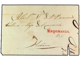 SPAIN: PREPHILATELIC MARKS  DP30 ISLAS DE CUBA Y PUERTO RICO - ...-1850 Vorphilatelie