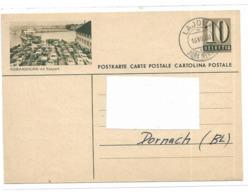 SUISSE Entier Postale 10 Helvetia Oblitération 16 7 1960 - Entiers Postaux