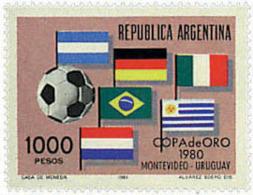 Ref. 26435 * NEW *  - ARGENTINA . 1981. FOOTBALL GOLD CUP IN MONTEVIDEO. COPA DE ORO DE FUTBOL EN MONTEVIDEO - Nuevos