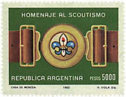 Ref. 37917 * NEW *  - ARGENTINA . 1982. 75th ANNIVERSARY OF THE SCOUTS. 75 ANIVERSARIO DEL ESCULTISMO - Nuevos
