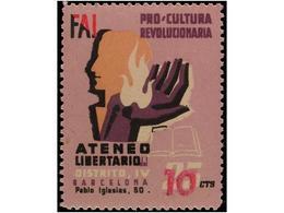 SPANISH CIVIL WAR.REPUBLICAN  POLITICAL LABELS - Emissioni Repubblicane