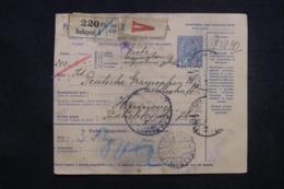 HONGRIE - Colis Postal De Budapest Pour Hannover En 1916 - 45536 - Paketmarken