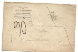 PARIS Sur Env. Caisses D'amortissement CAD PARIS Départ 1879  Taxe Manuscrite 30c  Sur  Env. En Franchise ....G - Poststempel (Briefe)