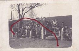 OBUS Téléscope  Obusier Minenwerfer Carte Photo Allemande - Guerre 1914-18