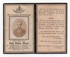 FAIRE PART DE DECES - 1898 - PRETRE  ALLEMAND - EMIL BUFTAU MENER - Décès