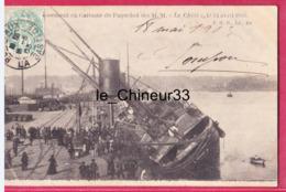 """33 - BORDEAUX--Echouement En Garonne Du Paquebot Des M.M--"""" Le Chili """" Le 24 Avril 1903--animé - Bordeaux"""