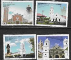PANAMA, 2019, MNH,CHURCHES, 4v - Churches & Cathedrals