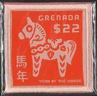 GRENADE Année Du Cheval-Broderie 1v 2014 Neuf ** MNH - Grenade (1974-...)