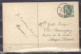 Postkaart Van Chastre-Villeroux Naar Koksijde Bains - 1935-1949 Petit Sceau De L'Etat