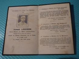 Lot De 4 Avis De Décès Soldats Morts Pour La France - 1914-18