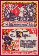 Allemagne 1 Notgeld 50 Pfenning  Stadt Dessau (RARE) Dans L 'état Lot N °4984 - [ 3] 1918-1933 : República De Weimar