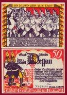 Allemagne 1 Notgeld 50 Pfenning  Stadt Dessau (RARE) Dans L 'état Lot N °4985 - [ 3] 1918-1933 : República De Weimar