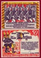 Allemagne 1 Notgeld 50 Pfenning  Stadt Dessau (RARE) Dans L 'état Lot N °4987 - [ 3] 1918-1933 : República De Weimar