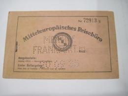 BILLET DE TRANSPORT ALLEMAGNE 1935    TBE - Aviation