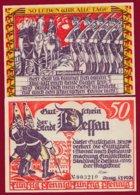 Allemagne 1 Notgeld 50 Pfenning  Stadt Dessau (RARE) Dans L 'état Lot N °4988 - [ 3] 1918-1933 : República De Weimar
