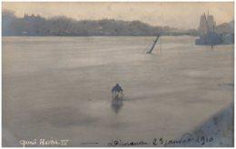 75 PARIS - Crue De La Seine - Quai Henri IV - Carte-photo - Alluvioni Del 1910