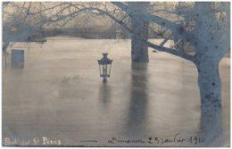 75 PARIS - Crue De La Seine - Rue Des Saints Pères - Carte-photo - Alluvioni Del 1910