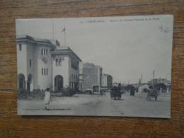 """Maroc , Casablanca , Avenue Du Général - D'amade Et La Poste """""""" Carte Animée """""""" - Casablanca"""