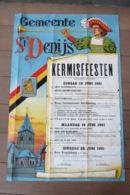 Affiche - Gemeente St Denijs Kermisfeesten - 1961 - Affiches