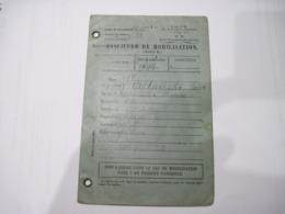 FASCICULE DE MOBILISATION  1927    TBE - Militaria