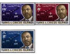 Ref. 366597 * MNH * - TURKS AND CAICOS Islands. 1968. DOCTOR LUTERO KING . DOCTOR LUTERO KING - Martin Luther King