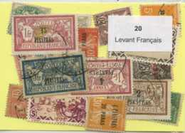 20 Timbres Levant Francais - Oblitérés