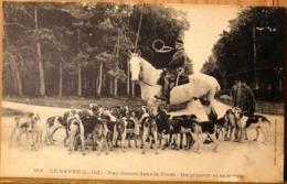 1658 LE GAVRE UNE CHASSE DANS LA FORET UN PIQUEUR ET SA MEUTE CHASSE A COURRE - Le Gavre