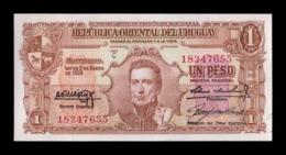 Uruguay 1 Peso L.1939 Pick 35b Sign 2 SC UNC - Uruguay
