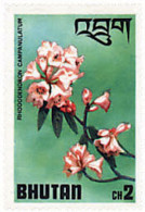 Ref. 354432 * NEW *  - BHUTAN . 1976. RODODENDRUM VARIETIES. VARIEDADES DEL RODODENDRO - Bhután