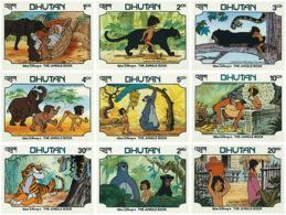 Ref. 46618 * NEW *  - BHUTAN . 1982. DISNEY. THE JUNGLE BOOK. WALT DISNEY. EL LIBRO DE LA SELVA - Bhutan