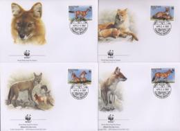 Ref. 23210 * NEW *  - BHUTAN . 1997. DHOLE ASIATIC RED DOG. PERRO ROJO ASIATICO - Bhután