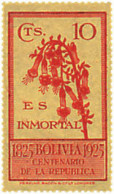 Ref. 292337 * HINGED *  - BOLIVIA . 1925. CENTENARY OF THE REPUBLIC. CENTENARIO DE LA REPUBLICA - Bolivien
