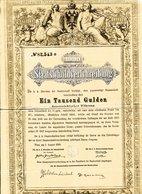 Autriche 1868: Obligation De Mille Florins - Banque & Assurance