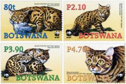 Ref. 165815 * NEW *  - BOTSWANA . 2005. WWF. BLACKFOOTED WILDCAT. WWF. GATO SALVAJE DE PATAS NEGRAS - Botswana (1966-...)