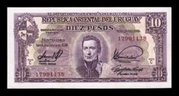 Uruguay 10 Pesos L.1939 Pick 37c Serie C SC UNC - Uruguay