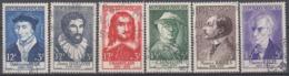 +B1632. France 1956. Célébrités. Yvert 1066-71. Cancelled - France