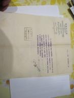 4 ANCIENS DOCUMENTS SECTA 1940  1941  MINISTERE DE LA JUSTICE 1925  SAPEURS POMPIERS D'ARPAJON 1908    TBE - Documents Historiques