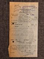 Luxemburg * 1931 Bettemburg  Zollamt Beleg - Finanzdepartement - Luxembourg