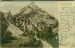 AK AUSTRIA - SEMMERINGBAHN - VIADUKT UBER DIE KRAUSEL-KLAUSE - EDIT GEORG KLIEINHANS ERBEN 1900s (BG5169) - Semmering
