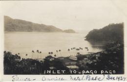 EARLY RPPC: INLET TO PAGO PAGO, AMERICAN SAMOA, NAVAL BASE 1937 - Amerikaans-Samoa