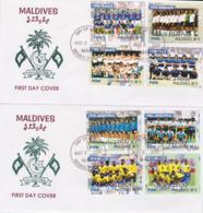 Maldives 2004 FDC 2004 FIFA Centenary - Two Covers (SKO13-23) - Calcio