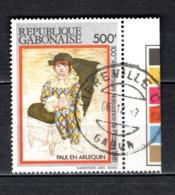 GABON  N° 473   OBLITERE  COTE 3.50€   TABLEAUX PEINTRE PICASSO - Gabun (1960-...)